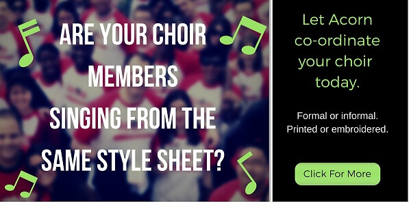 personalised clothing for choirs