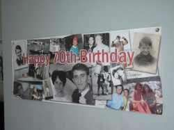 Printed PVC banners for significant birthdays