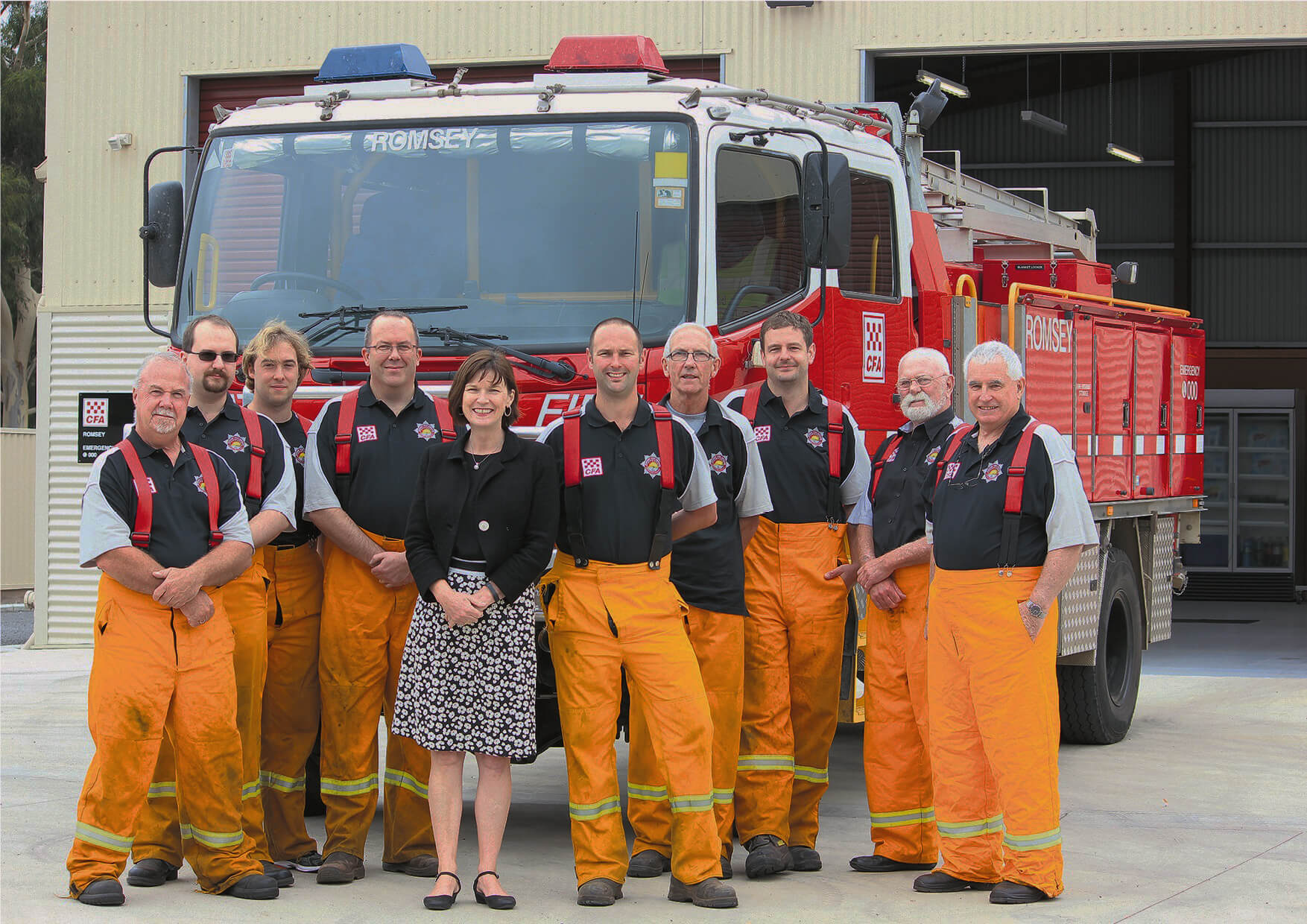 personalised garments for a fire brigade