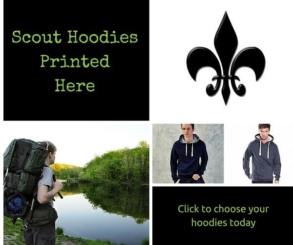 scout hoodies printed and embroider