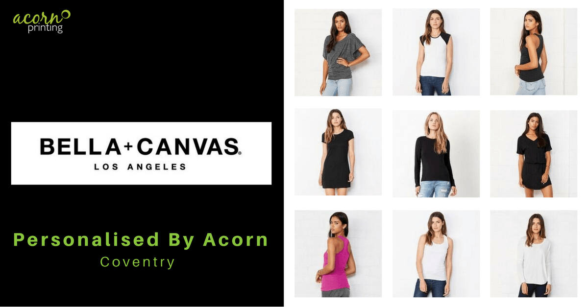 Bella + Canvas ladies tops printed or embroidered for your next promotion or event
