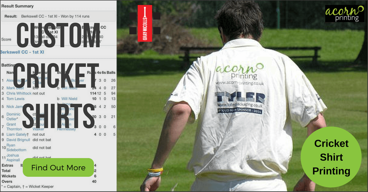 custom cricket shirts printed or embroidered for the new season
