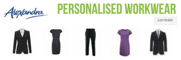 Alexandra work and corporate clothing - personalised with print and embroidery