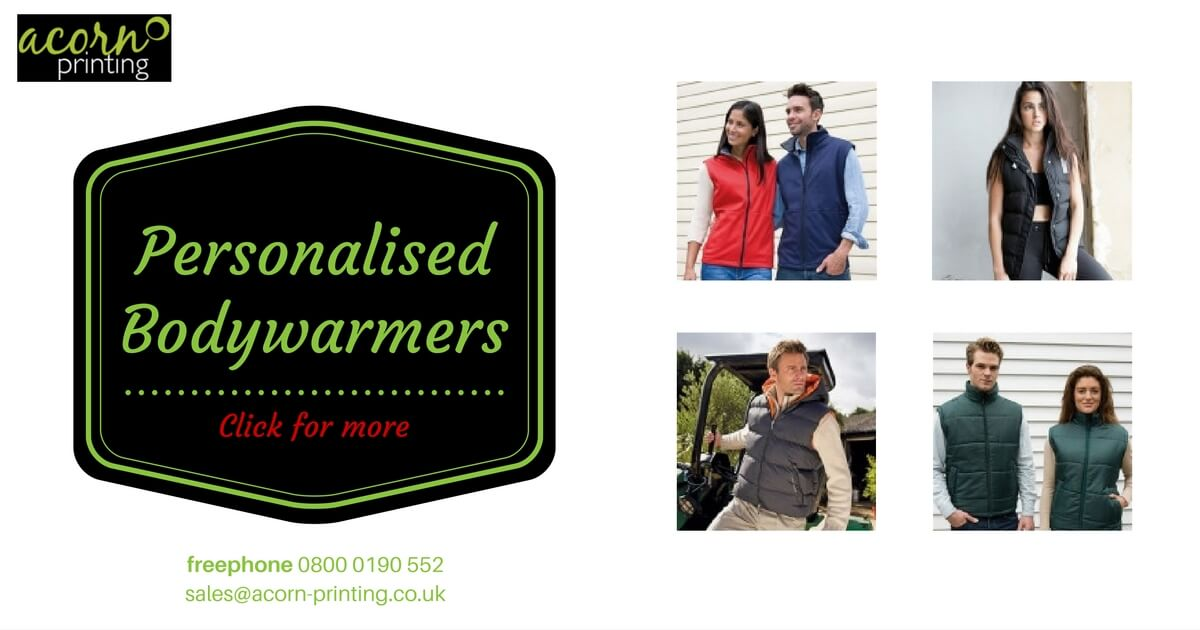 personalised bodywarmers, gilets and fleeces