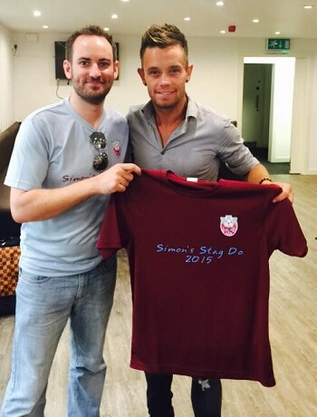 Personalised stag night t-shirt with Lee Hendrie