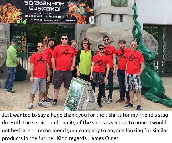 personalised t-shirts for your next stag weekend
